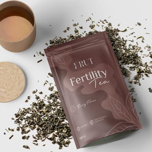 Fertility tea pack design