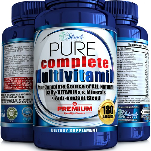 Multivitamin 4 size pack design