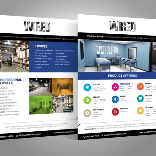 Create a Line Card brochure for Wired Distributing