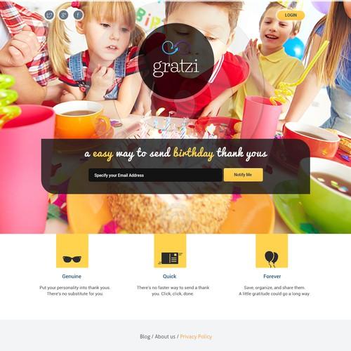 Gratzi Landing page