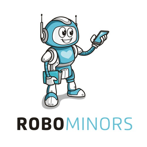 A robotics education company for kids needs a super cute logo