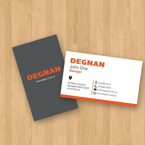 Degnan business card
