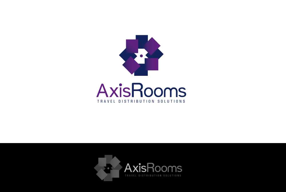 Create the next logo for AxisRooms Travel Distribution Solutions Pvt Ltd