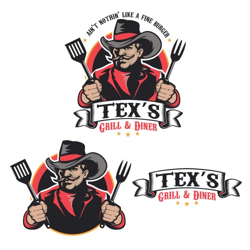 Logo for Tex's Grill and diner