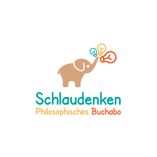 "Fresh and playful Logo for philosophic bookshop ""Schlaudenken Buchabo"""