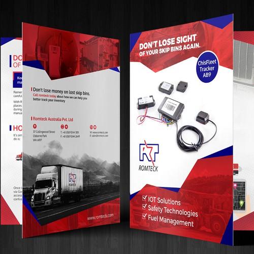Bi-fold Brochure design for RomTeck