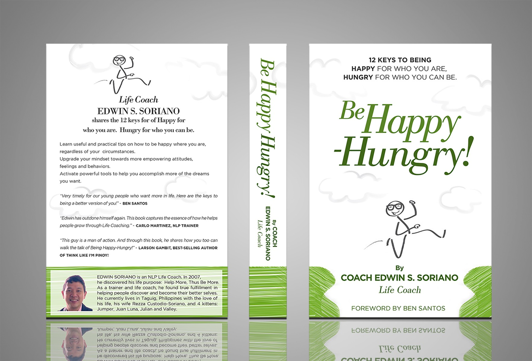 """Book Cover for: """"Be Happy-Hungry!"""" - Happy for who you are, Hungry for who you can be!"""