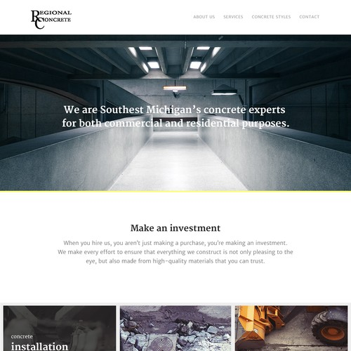 Website design for construction company