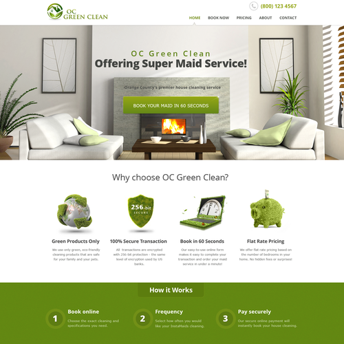 Create an awesome web page for my house cleaning company!