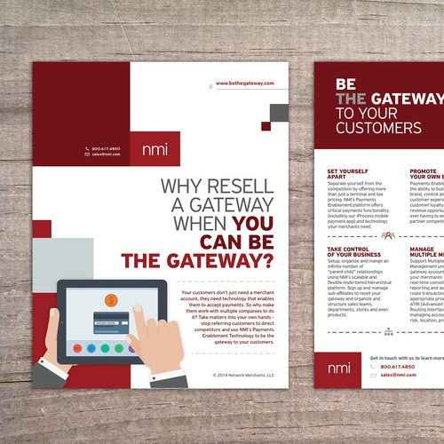 Create a Two Sided Print Ad for Innovative Technology Company