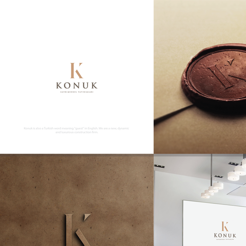 Luxury logo for construction firm