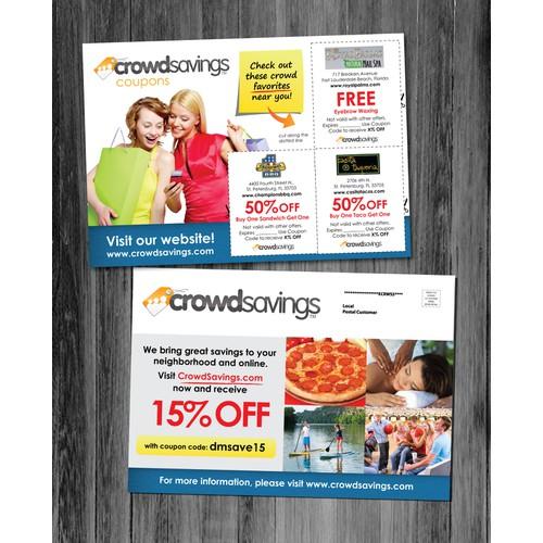 CrowdSavings.com needs a new postcard or flyer