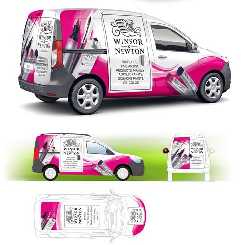 Car/Van Dacia Dokker Wrapping for Winsor & Newton Art/Paint Company