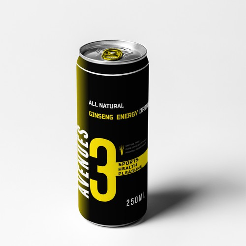 Minimalist High Class All Natural Energy Drink