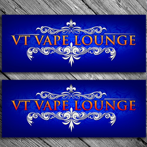 Create an Elegant, Classy sign for a Vape Lounge.