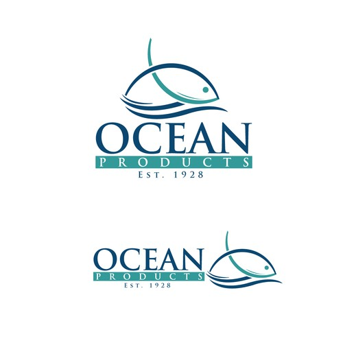 Create a winning logo for a fish plant Ocean Products, Norway