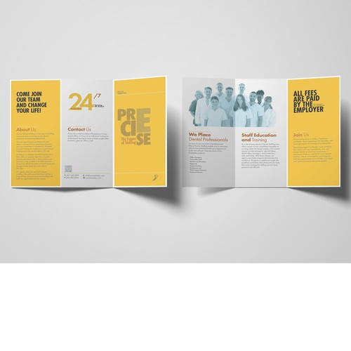 Precise Stuffing Trifold Brochure