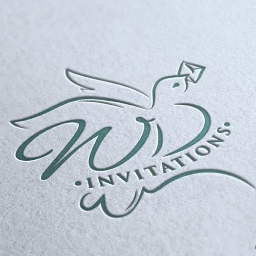 logo for White Dove Invitations (artisanal stationary) OR White Dove artisanal invitations & stationary