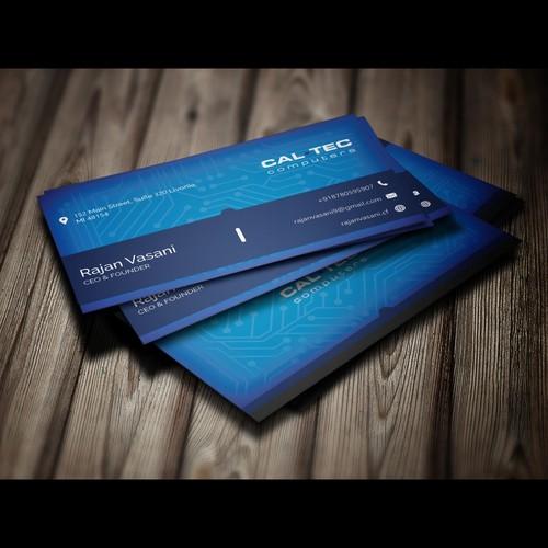 Tech company business card