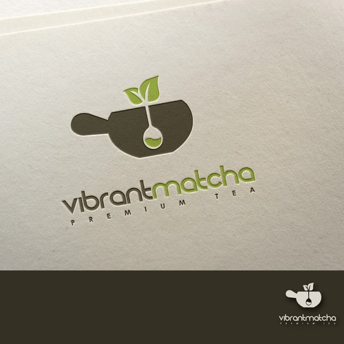 Modern logo concept for premium tea