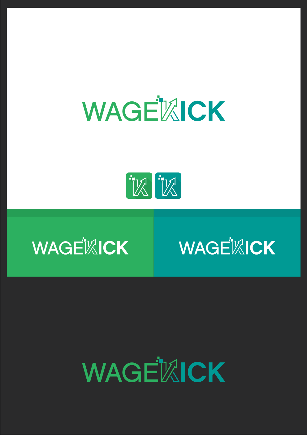 Create a logo that helps WageKick stand out in the job market