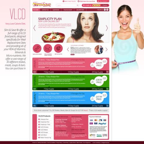 Help Slim & Save Ltd with a new website design
