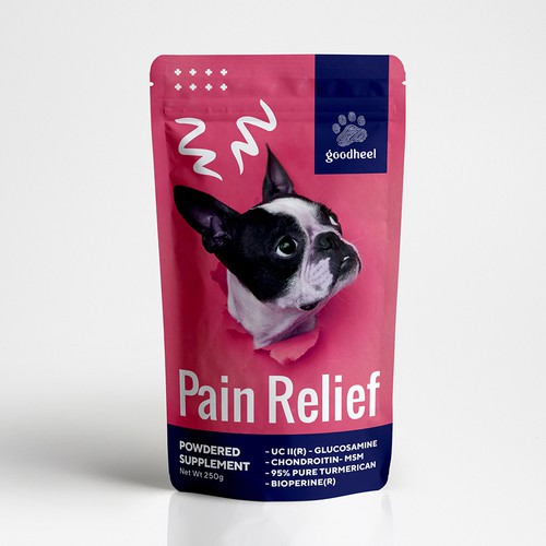 Pain Relief packaging design