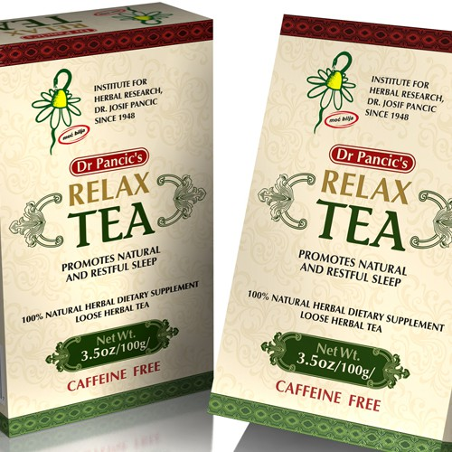 Graphic design for tea package