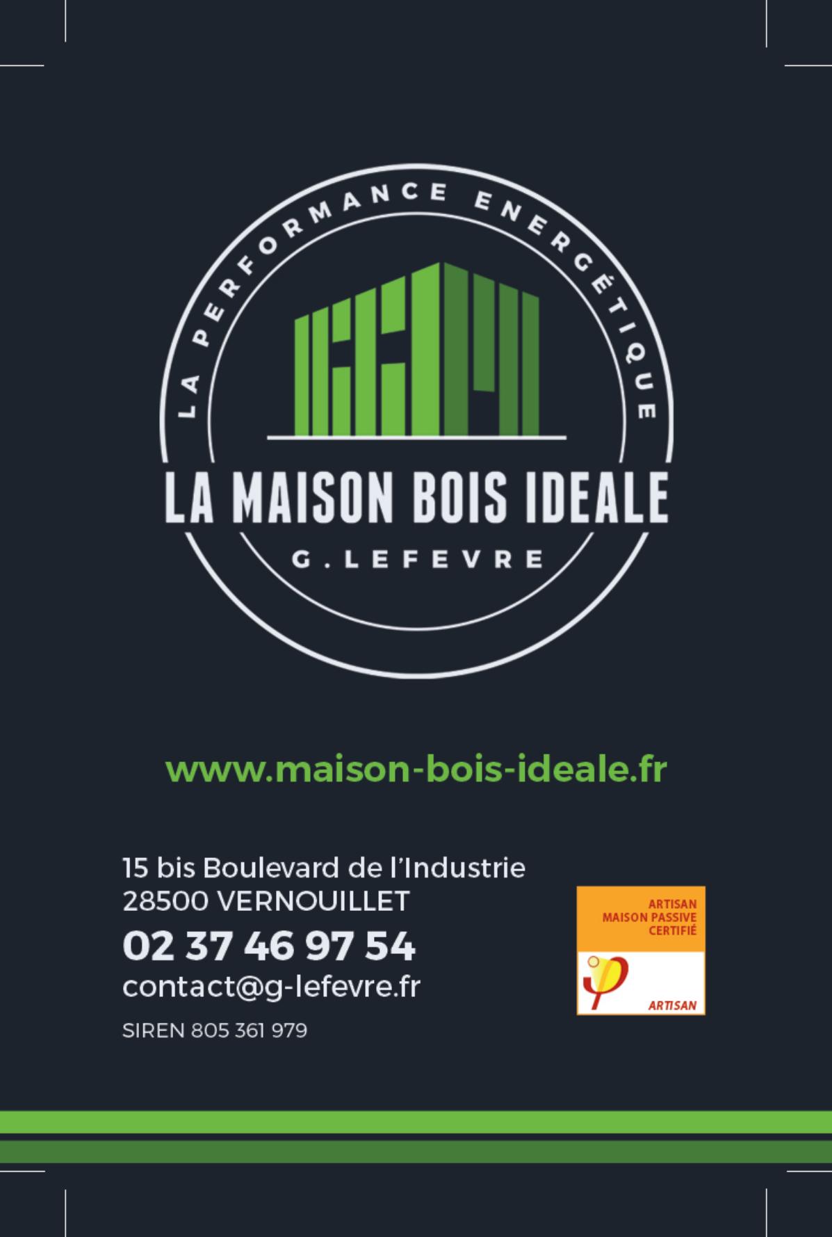 Carte de visite - LA MAISON BOIS IDEALE