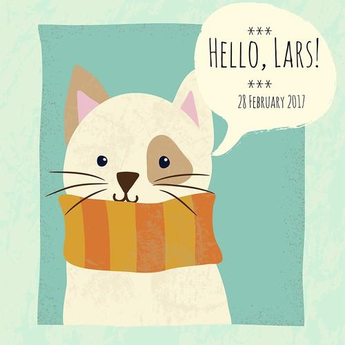 Cute cat card.