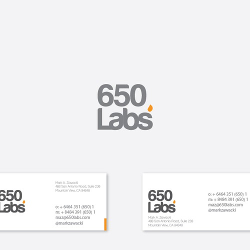 logo and business card for 650 Labs