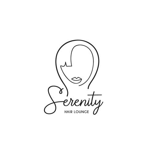 Hair lounge logo