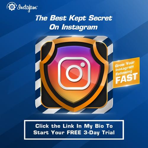 Instagram ad for instajam