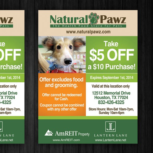 Create an ad for Natural Pawz