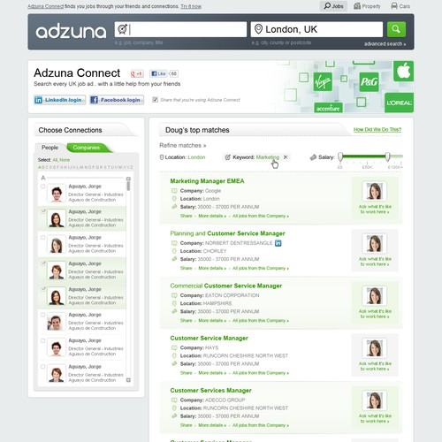 Adzuna Website design