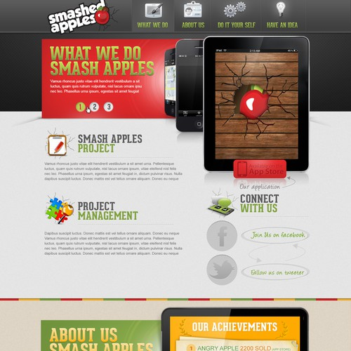 New website design wanted for Smashed Apples