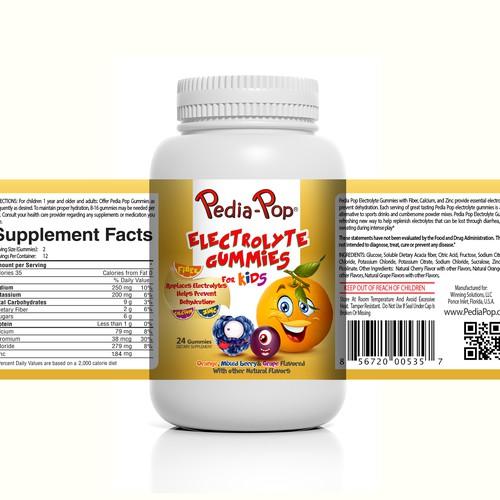 Redesign of Pedia-Pop Electrolyte Gummies