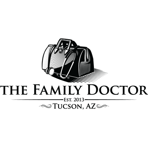 Create a logo for an old-fashioned style family practice clinic