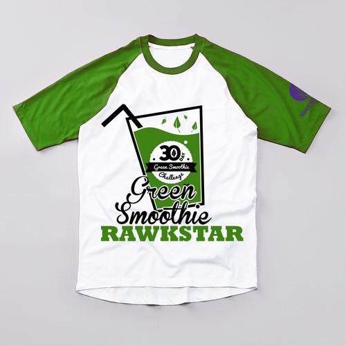 T-shirt design for Green Smoothie Rawkstar