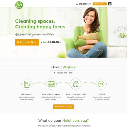 House Cleaning/Maid Service in Iowa/Midwest