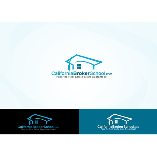 logo for california broker school