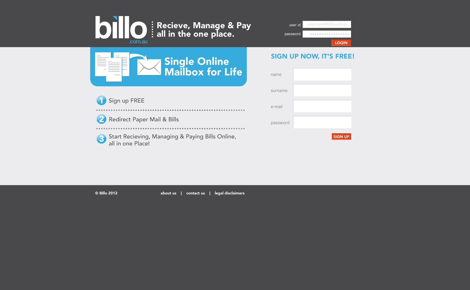 Create the next website design for Billo