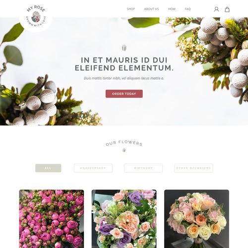 Online Flowershop Homepage