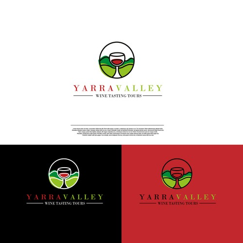 Logo for a company organizing wine tasting tours