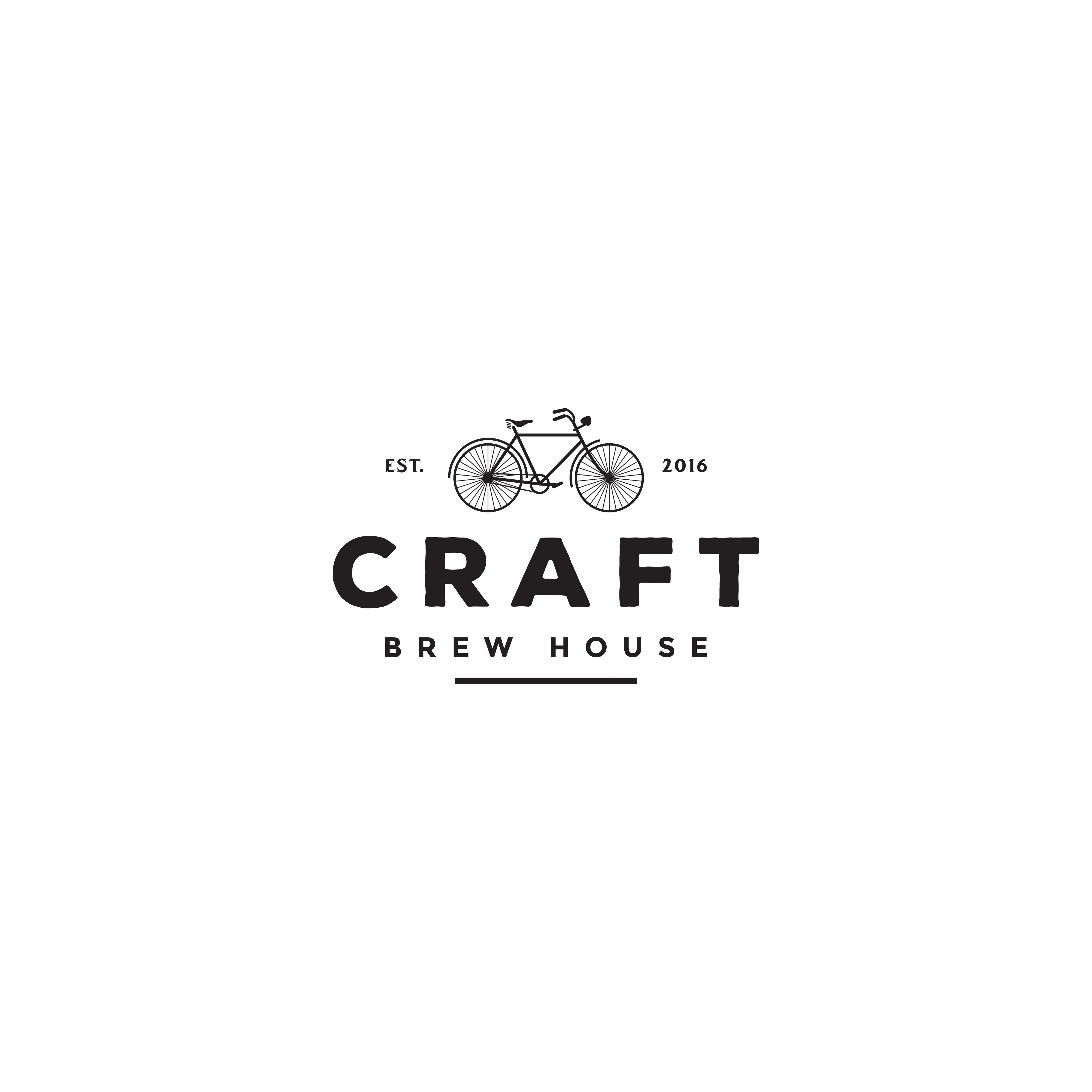Create a sleek, industrial, vintage logo for our Craft beer and coffee house