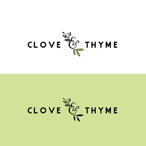 Sophisticated, Organic Design for Clove & Thyme Personal Chef and Catering
