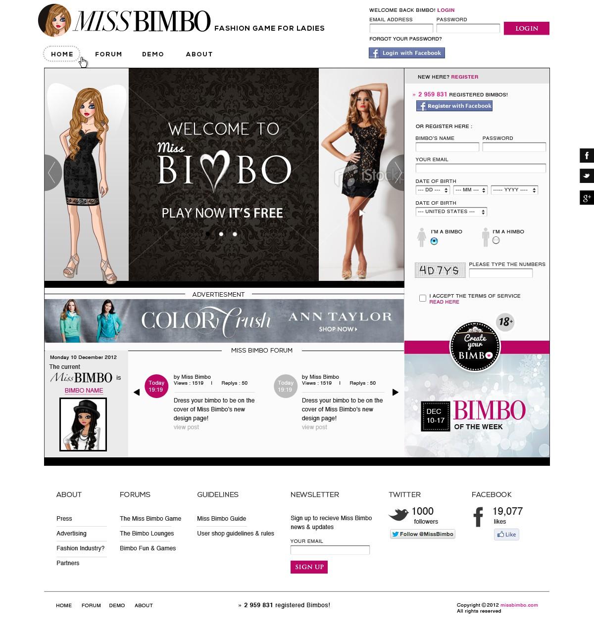Miss Bimbo.com - edgy cool design wanted!