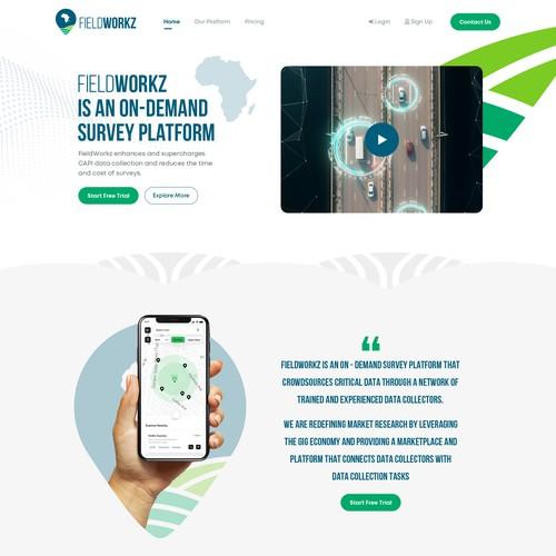 Design on-demand survey platform website