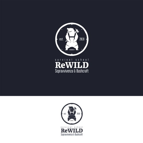 ReWILD survival school logo