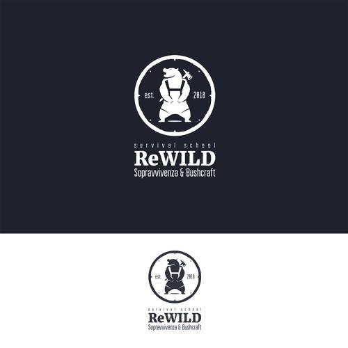 ReWILD survival school logo